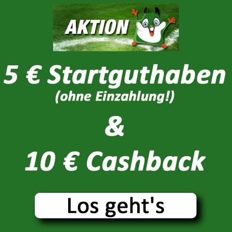 Gratiswette & Cashback