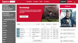 Tipico bietet seinen Nutzern ein übersichtliches Wetterlebnis mit mehr als 20 Sportarten