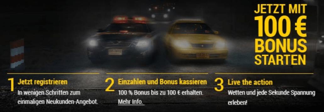 100 Euro für Neukunden - dazu sehr moderate Bonusbedingungen - so sieht ein attraktives Bonusmodell aus