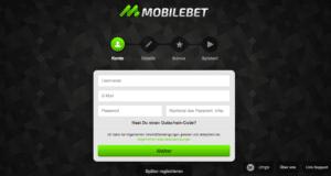 Der Anmeldevorgang bei Mobilbet ist innerhalb von wenigen Augenblicken abgeschlossen - optional kann sogar ein Gutschein-Code eingetragen werden